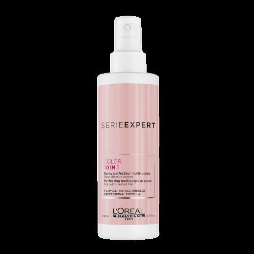 Spray profesional 10 in 1 pentru par vopsit L'Oréal Professionnel Serie Expert Vitamino Color resveratrol, 190 ml